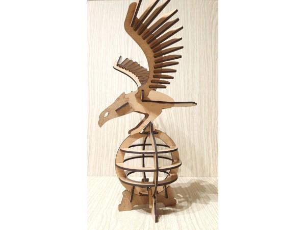 Орел на шаре конструктор, сборная деревянная модель