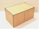 Коробка 165 с откидной крышкой, 2 секции