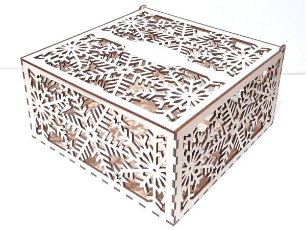 Коробка 193, резная снежинки