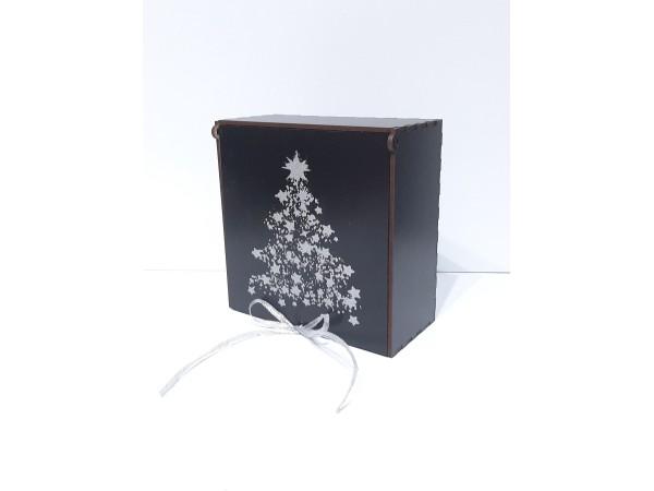 Коробка 7104,Серебро,черная